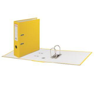 Folder-Registrar BRAUBERG with a coating of PVC, 80 mm, corner, yellow (double life)