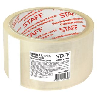 STAFF / Transparent packaging adhesive tape 48 mm x 40 m, thickness 40 microns