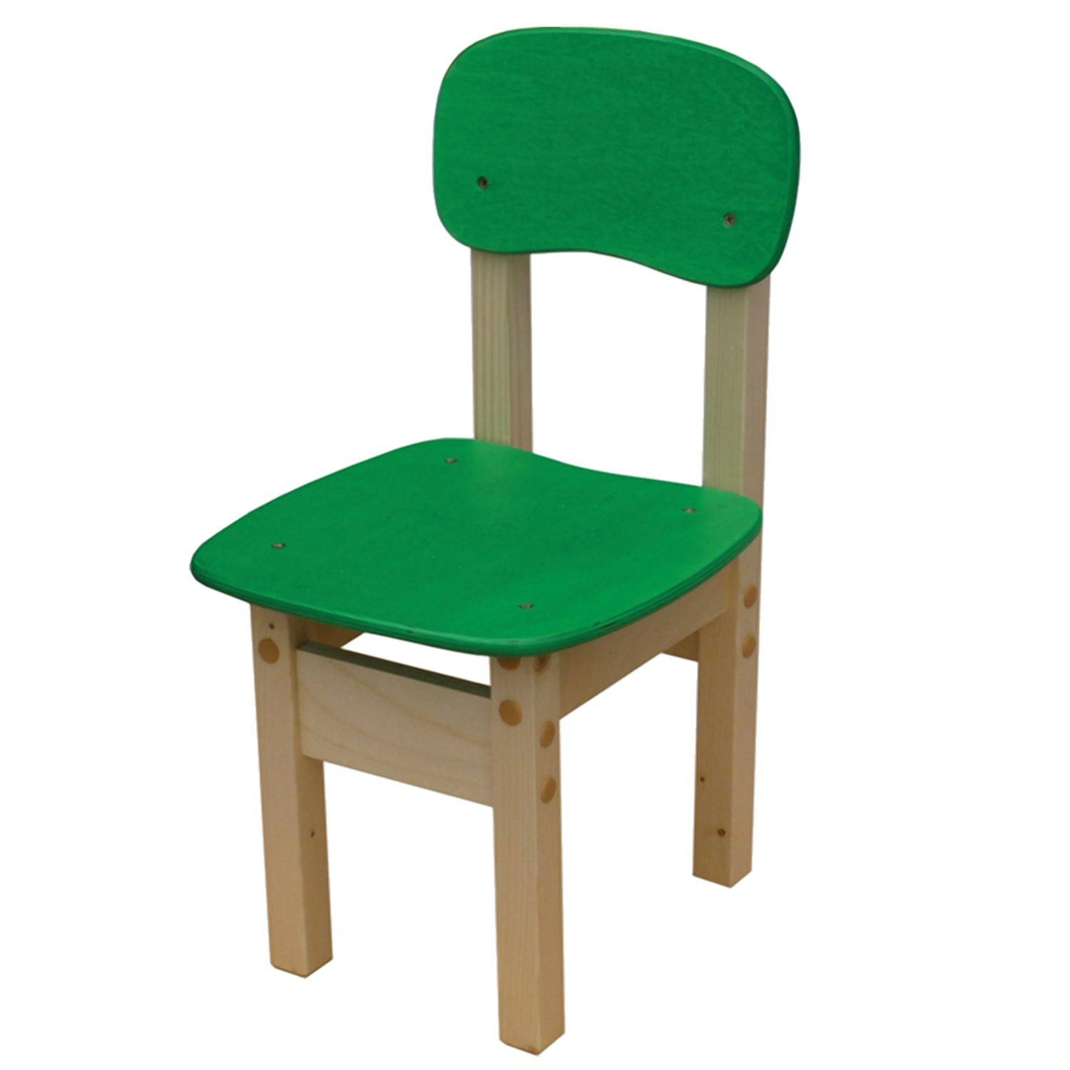 """Children's chair """"Apple-2"""", height 2 (115-130 cm), plywood/tree, green"""