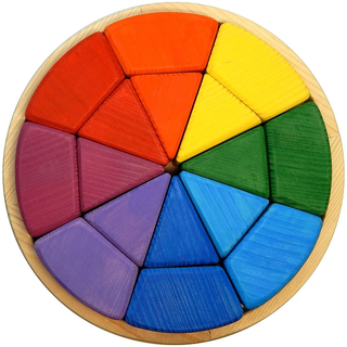 Designer Circle Goethe - colorful developing toy (handmade)