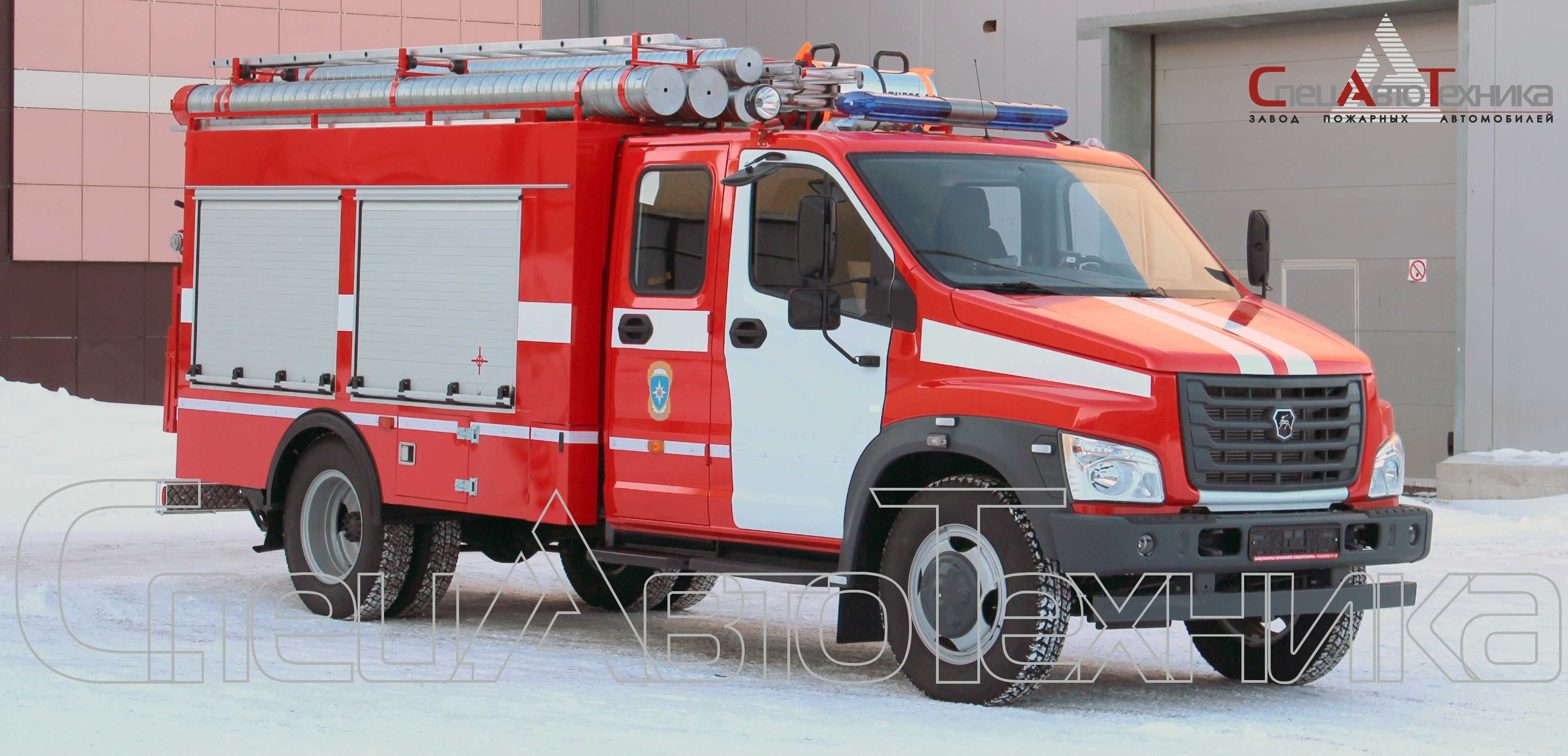 Tanker fire on the chassis of the Lawn NEXT ATS-1,0-40 (С42R33)