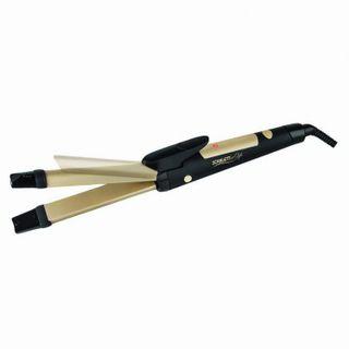 Styler for hair SCARLETT SC-HS60595, 30W, straightening/perms, 1 mode, ceramic, black/gold