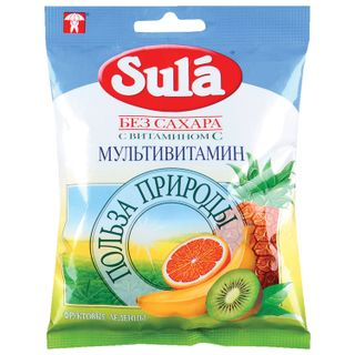 "SULA / Candy-caramel lollipop ""Multivitamin"", 60 g, packet"