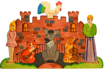 The 'Bremen Musicians' puzzle is a colorful developing toy (handmade)