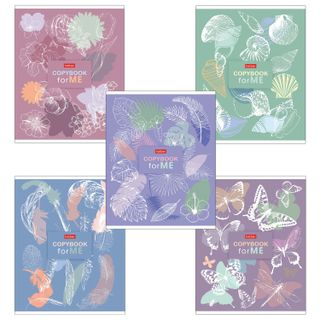 Notebook A5, 96 sheets, HATBER, staple, cage, foil, selective varnish,