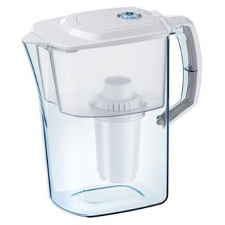Water-cleaning jug Aquafor Atlant, 4 litres, with interchangeable cassette, resource meter, white