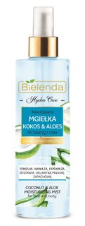 Moisturizing fluid for face and body with the scent of Coconut and Aloe, spray , HYDRA CARE, BIELENDA, 200 ml