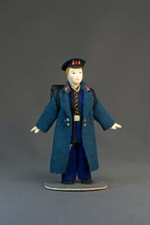 Doll gift. Suit a student, Saint-Petersburg, Russia, early 19th century.