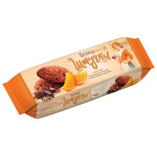 PIECES / Oatmeal cookies with chocolate pieces and candied orange fruits, butter, 160 g
