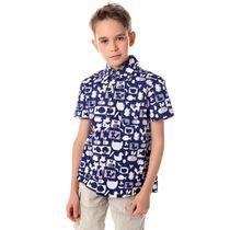 Shirt Jungle blue