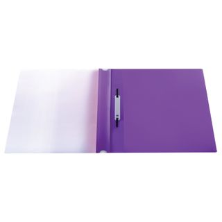 Folder plastic with perforations BRAUBERG, A4, 140/180 µm, purple