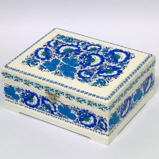 Casket painted wooden for tea 230х180