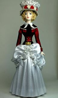 Doll gift. Suit Parisians to stroll the 18th century.