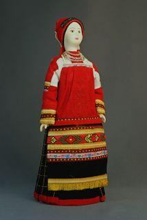 Maiden costume Конец19в. Tambov lips. Russia. Doll gift