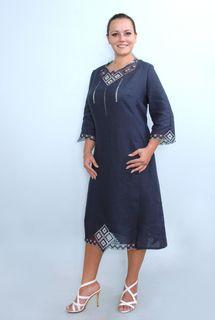 Dress womens linen 9-114