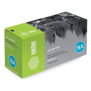 Toner cartridge CACTUS (CS-CE278A) for HP LaserJet P1566 / 1606DN, yield 2,100 pages.