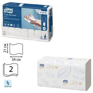 TORK / Paper towels (System H2) Premium, 2-ply, 110 pieces, white, 21x34, Interfold, SET 21 pieces