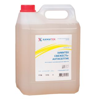"KHIMITEK / Disinfectant liquid soap 5 l, ""Freshness-antiseptic"", softening"