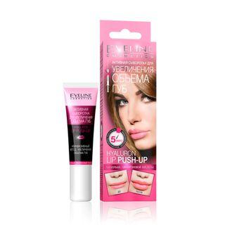 Active serum to increase lip volume series hyaluron lip push up, Eveline, 12 ml