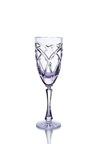 Set of crystal glasses for white wine neodymium 6 pieces