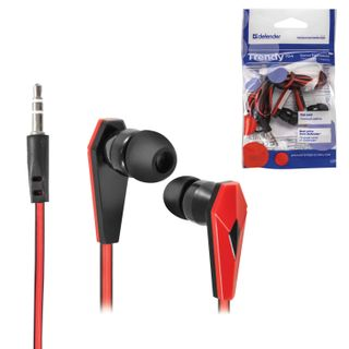 DEFENDER / Trendy 704 headphones, wired, 1.1 m, in-ear, black with red