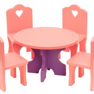 """Doll furniture """"A table with chairs"""""""