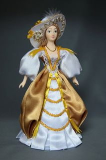 Doll gift porcelain. European secular costume. 18veka.