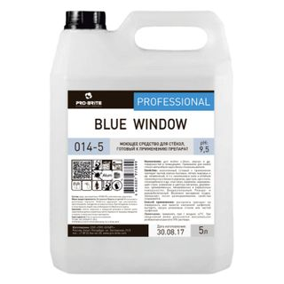 Means for washing glasses and mirrors 5 l, PRO-BRITE BLUE WINDOW, alkaline, low foam, concentrate