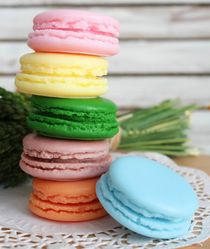 Macaron - French dessert - handmade gift box set of olive soap in a box