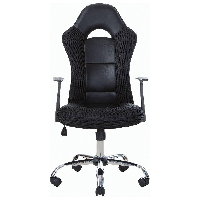 "Office chair BRABIX ""Fusion EX-560"", eco-leather / fabric, chrome, black"
