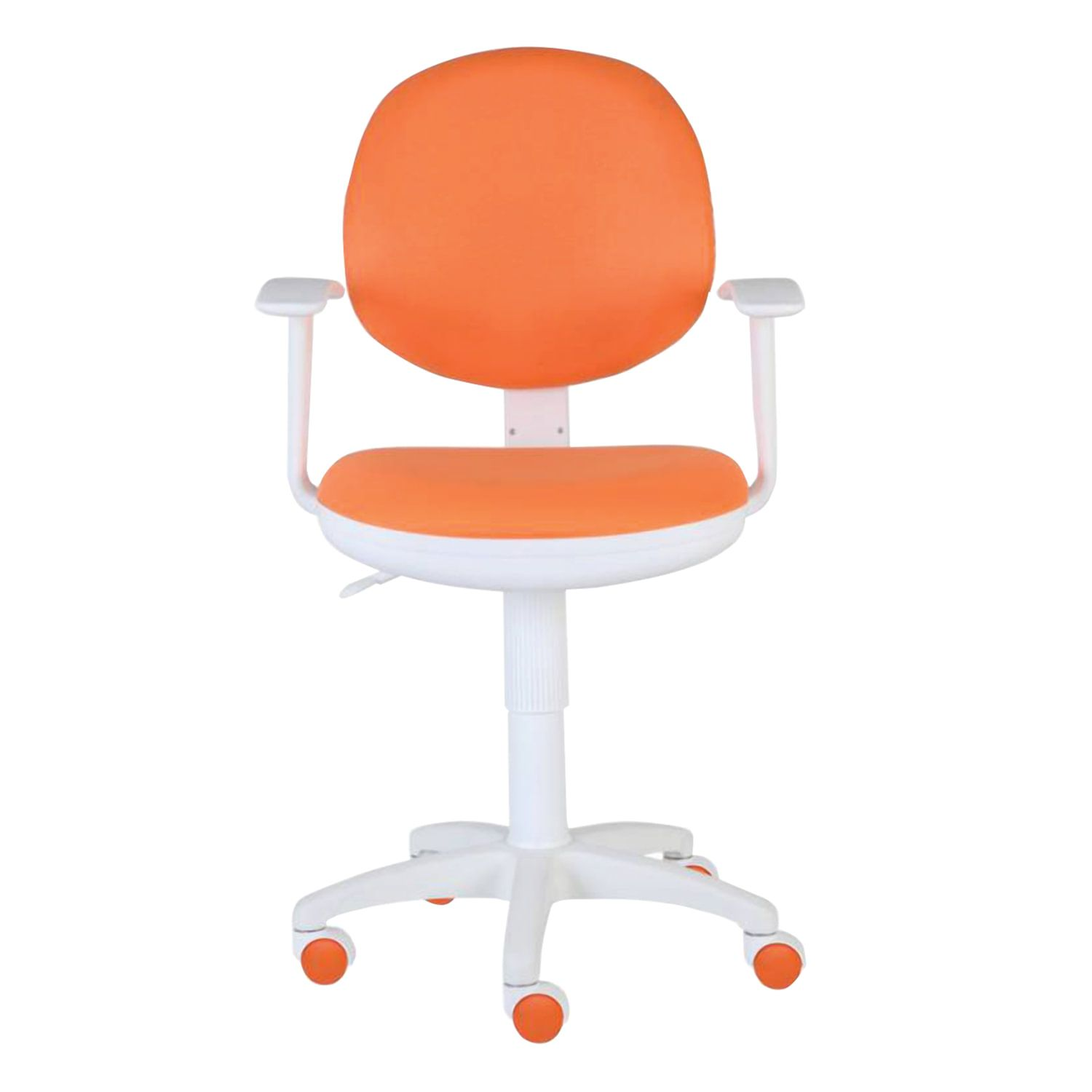 Chair CH-W356AXSN with armrests, orange, plastic white