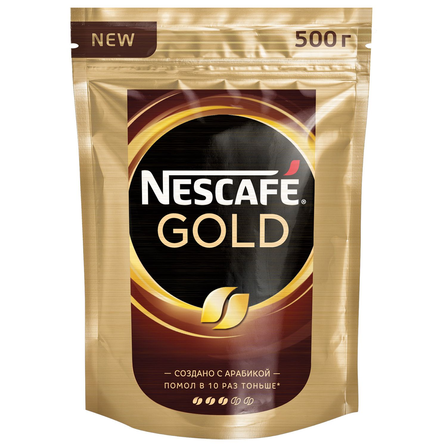 """NESCAFE / Ground coffee in instant """"Gold"""" sublimated, soft packaging 500 g"""