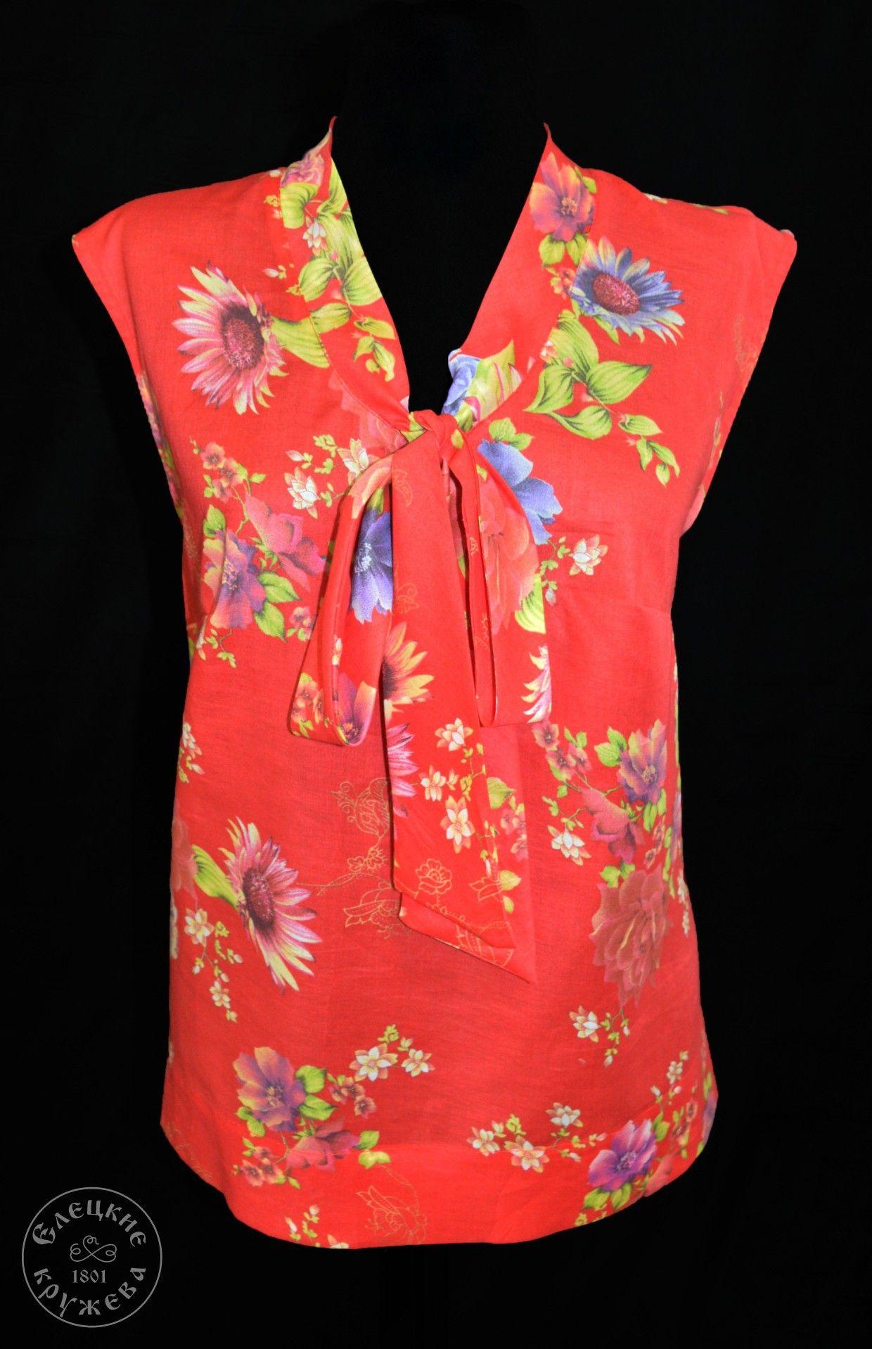 Yelets lace / Women's linen blouse С11713