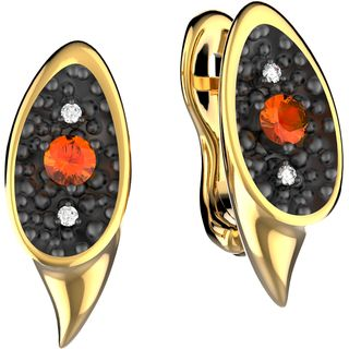 Yellow gold earrings - Alilu collection