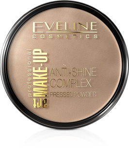 Mattifying mineral powder with silk anti-shine complex pressed powder - deep beige 36 the art. Professional make-up, Eveline