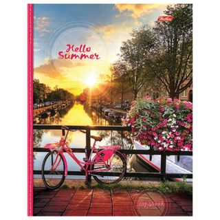 Notebook on A5 rings (170x220 mm), 240 sheets, cover laminated cardboard, cage, HATBER,