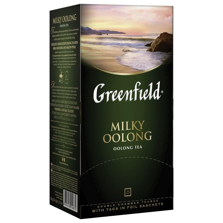 "GREENFIELD / Tea ""Milky Oolong"" oolong tea with additives, 25 sachets, 2 g each"