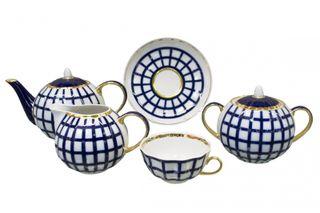 Dulevo porcelain / Tea set 15 pcs. Tulip Cage