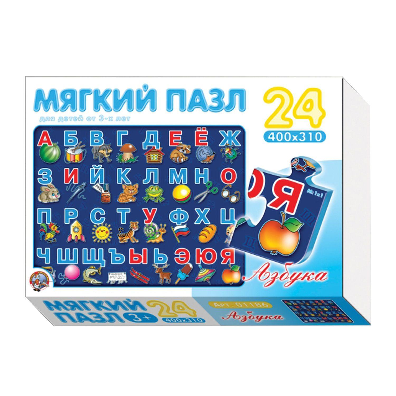 "Puzzle soft ""ABC"", 24 element, 40х31 cm, foamed polyethylene, ""the Tenth Kingdom"""