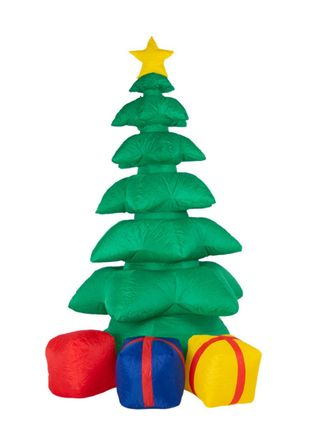 """Inflatable outdoor LED 3D figure """"Gifts under the tree"""" with internal illumination 240 cm"""