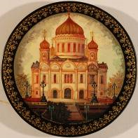 Kholuy art varnish miniature Cathedral of Christ the Savior