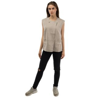 "Vest women's ""Grisaille"" gray with silk embroidery"