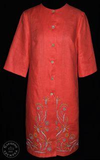 Coat womens linen embroidered С11772