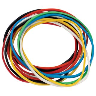 Universal bank elastic bands, diameter 60 mm, BRAUBERG 100 g, colored, natural rubber