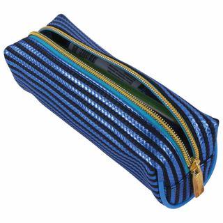 Pencil case-cosmetic bag BRAUBERG, soft, Royal, blue, 19х6х6 cm