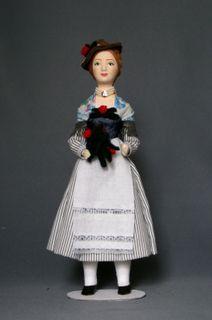 Doll gift. Women's German costume of the 20th century. Bavaria.