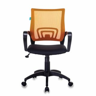Chair CH-695N / OR / TW-11, with armrests, mesh, black / orange