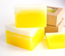 Pineapple-Lemon 1kg whetstone - handmade glycerin soap