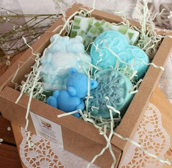 Mint apple - handmade soap set