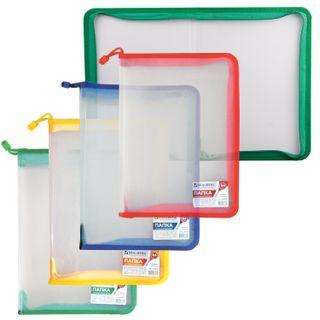The zip folder plastic BRAUBERG